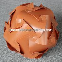 brown color plastic pendant lamp shade/plastic sheet