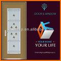 venda de uma fábrica novo design meia lua de vidro da porta de madeira