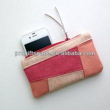 2015 aliabba wholesale new fashion pure handmade wool felt coin card phone keeper made in China