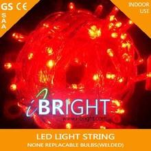 UL CE GS SAA christmas led string lights red