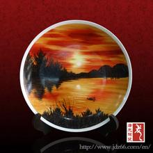 Jingdezhen decorative factory direct OEM souvenir ceramic plate
