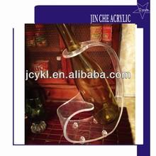 clear acrylic wine bottle holder