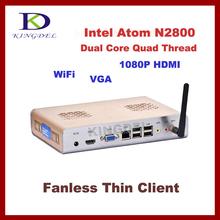 Metal case Thin Client Mini desktop PC, Intel Atom N2800 1.86Ghz Dual Core, 2GB RAM, 8GB SSD, WiFi, 1080P HDMI, Windows 7 OS