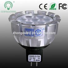 CE RoHS FCC approved Nichia anti-glare 6w spotlight mr 16 led