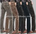 2014 yeni stil toptan ucuz erkek rahat pamuklu kadife pantolon