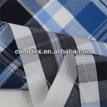40*40 drapery soft cotton yarn dyed cross stripe shirt fabric