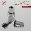 Zj-kc bronze de desconexão rápida, direto através de rosca de acoplamento direto, npt 1/4 não- válvulas com rosca de acoplamento direto