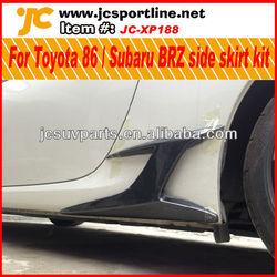 Auto Carbon side skirt kits for Toyota FT-86 ZN6 FR-S GT-86 SCION for Subaru BRZ side bumper trim car side carbon decoration