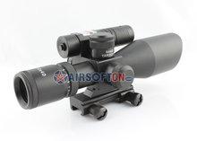 Best Hunting Riflescope 2.5-10x 40mm Red Green Dot Illuminated Sight Scope w/ Tactical Green Laser Aim Sight, 2.5-10X40R