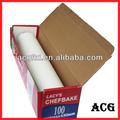 suministro de panadería pergamino blanca de papel para hornear