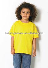 Fashion Cotton/Polyester Kids' short Sleeve t shirt