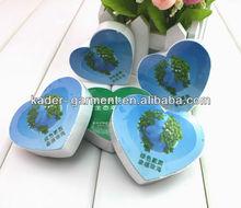heart shape compress t-shirt for gift