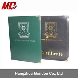 Custom PU Diploma Certificate Cover