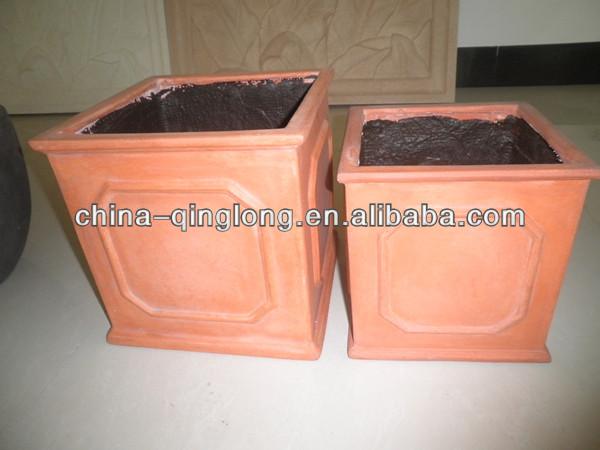 peso leve wanterproof frostproof argila cerâmica vermelha ourdoor vaso de plantas