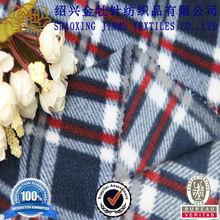 2013 high quality check print anti pilling fleece fabric