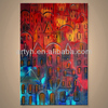 Wholesale Handmade Decorative Abstract Cityscape Canvas Painting
