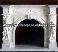 sandstone sculpture carving fireplace