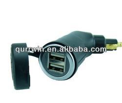 Motorcycle DIN Hella Socket Dual USB Charger