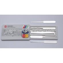 Locksmith tools of Credit Card Pick Set /Card lock pick /hook pick set