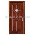 Classique et moderne en verre insert intérieur en bois massif porte d'entrée