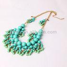 Fashion emerald necklace, pendant tassel short paragraph, Yiwu jewelry wholesale