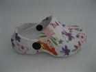 Beautiful girls eva clog shoe print