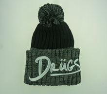 knitted fashion winter ski pom pom hat