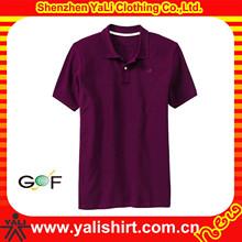 Personalizado de alta qualidade mangas curtas dos homens de golfe