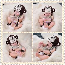 funny winter hats for baby children halloween hats crochet monkey free knitting baby photo prop