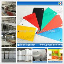 pvc cover plastic sheet/hot size 1.22m*2.44m/biggest manufacturer in Shanghai