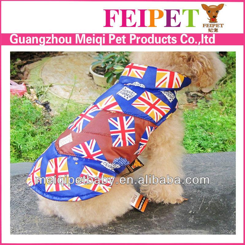 nuovo arrivo cane giacca invernale bandiera modelli i vestiti del cane per la vendita
