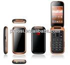 """3.2"""" Cheap big button flip cell phone,SOS Call,MP3,FM Radio,3G,WCDMA bluetooth phone"""