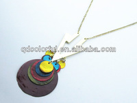 YN4033 fashion colorful shell jewelry china cowry shell necklace