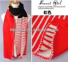2014 Winter Fashion Newest Knit Striped Scarf Pattern