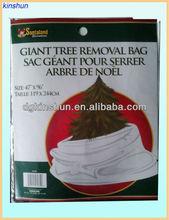 2015 newest white Disposable Christmas Tree Bags,christmas tree removal bag