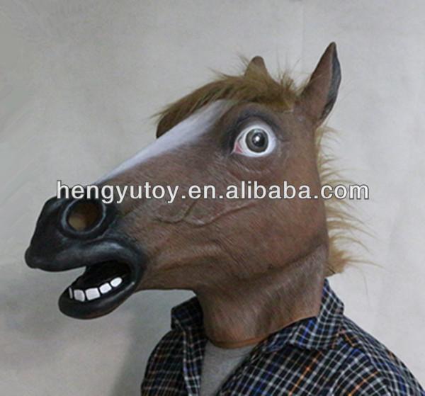 2014 venda quente de alta qualidade Huizhou Realistic New bonito cavalo máscara de látex realista