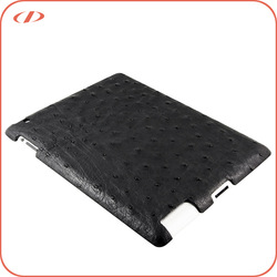 Luxury exotic real ostrich skin case for ipad air