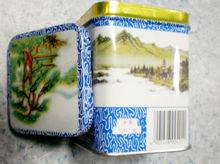 China green tea Gunpowder 3505AAA in Chinese ink tins