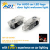 For Audi car logo led courtesy light, led car logo door light