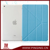 Newest foldaway flip case cover for ipad air leather case