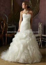 fashionable Sweetheart Tulle & organza Wedding Dress made in Vietnam