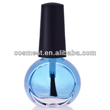 5ml,10ml,15ml frost small glass nail polish bottles with screwed cap and brush