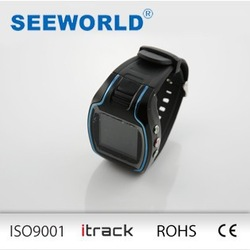 GSM GPS GPRS tracker for sports wrist watch location information inquiry by SMS and Internet