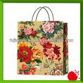 flor de impresión de bolsas de papel para el embalaje de regalo o