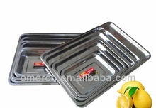New design stainless steel Square Tray with cheap price