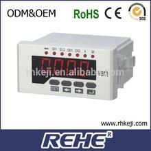 3 phase digital analog panel mount 220V solar power system active and reactive kw w var meter RH-3Q51