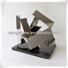 Abstraite poli Art Sculpture en acier inoxydable hôtel décoration