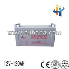 Solar battery 12V 120AH, lead acid storage battery, ups battery for computer