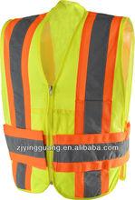 3 point tear-away reflective vest,ANSI class 2 standard
