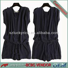 ladies' new design 100% silk fashion nice jumpsuit